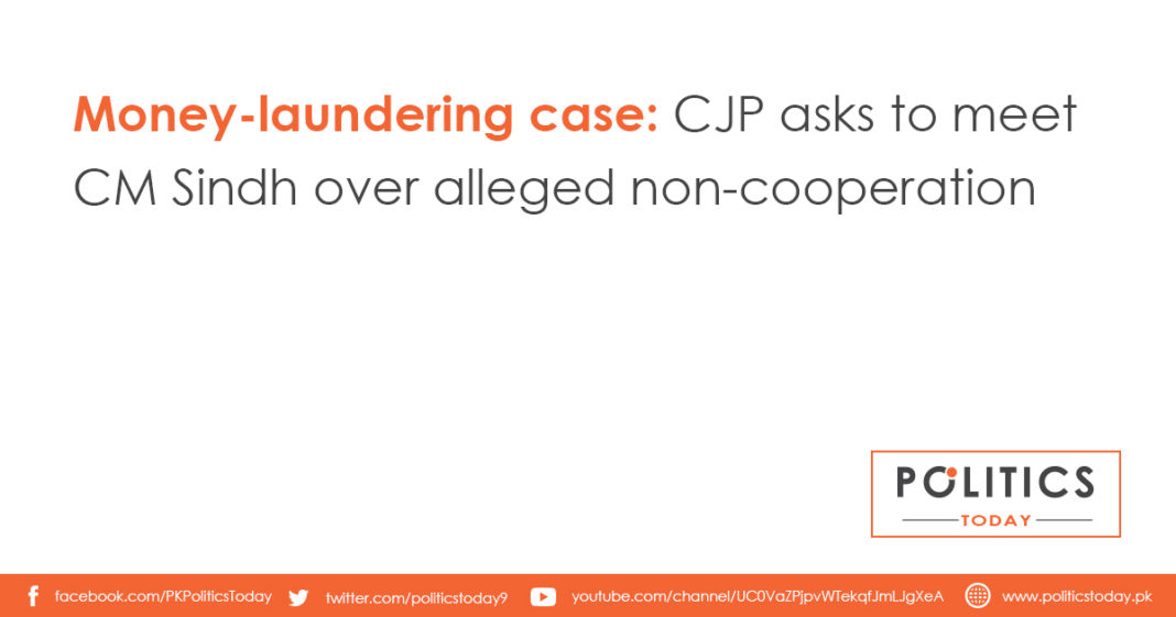 Money-laundering case: CJP asks to meet CM Sindh over alleged non-cooperation