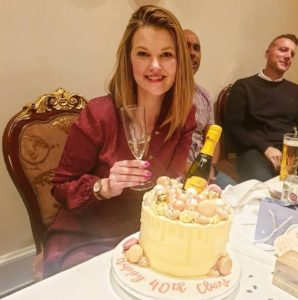 40th Birthday Lindt and Prosecco Cake