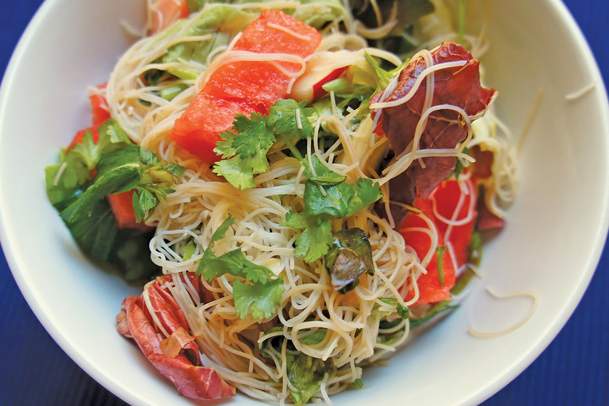 Recipe: Noodle And Watermelon Salad With Barbecue Chicken