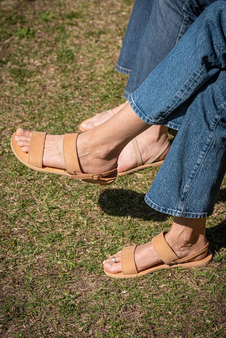 ilios sandales meraki camel nubuck