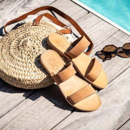 ilios sandales agapi camel nubuck