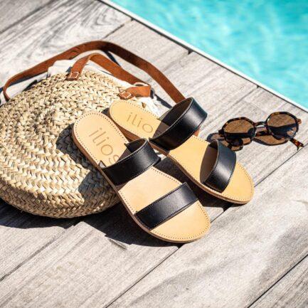 ilios sandales agapi noir