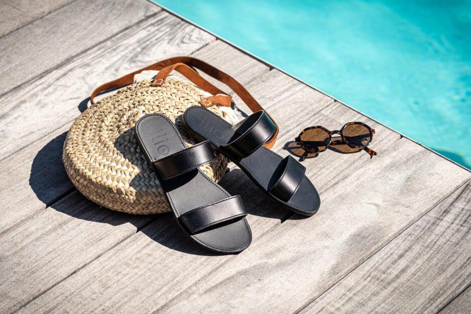 ilios sandales agapi total noir
