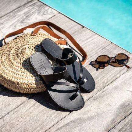 ilios sandales elpida total noir