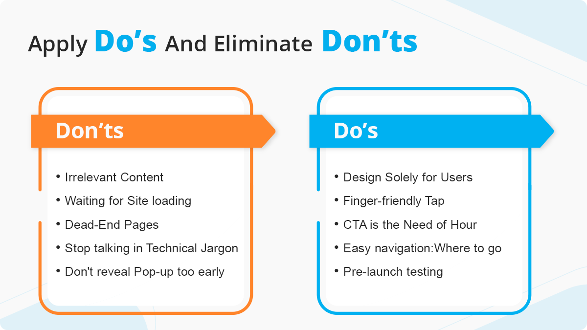 Apply Do's and Eliminate Don'ts to Create The Best Website UX