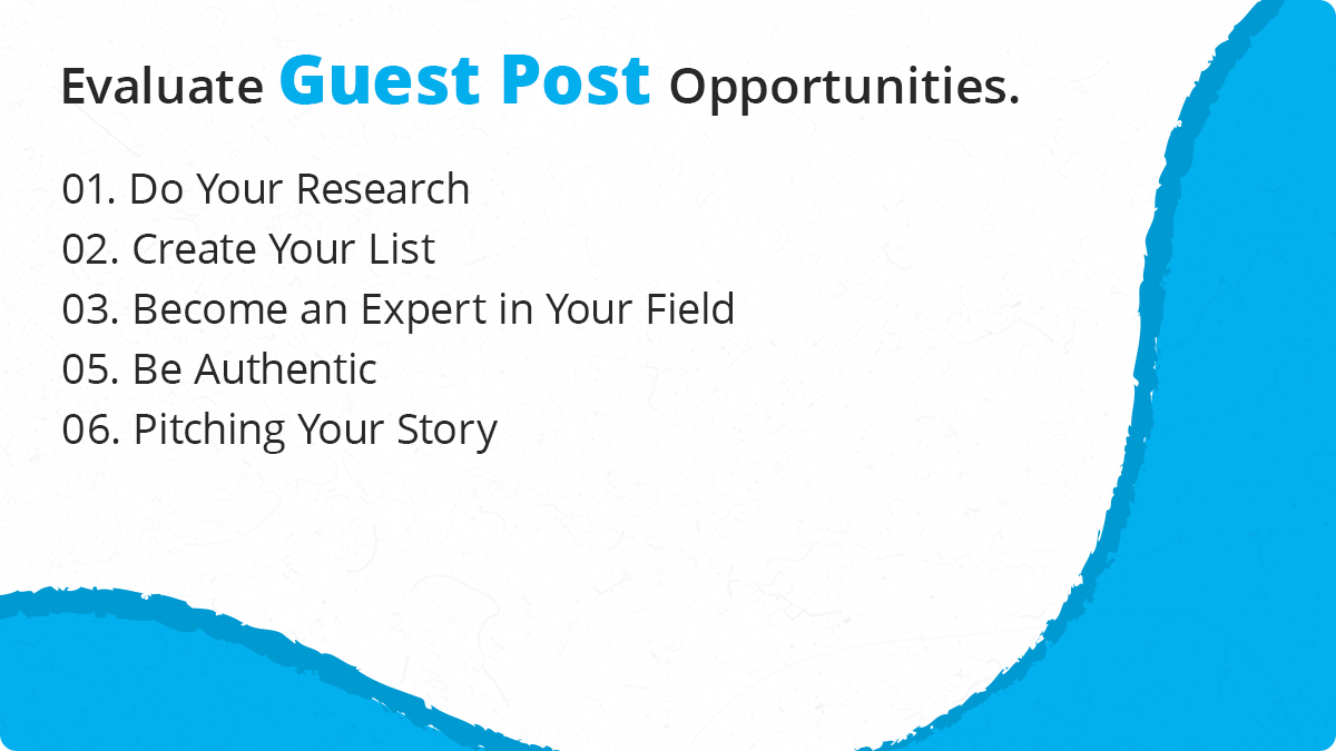 How to Evaluate Guest Post Opportunities
