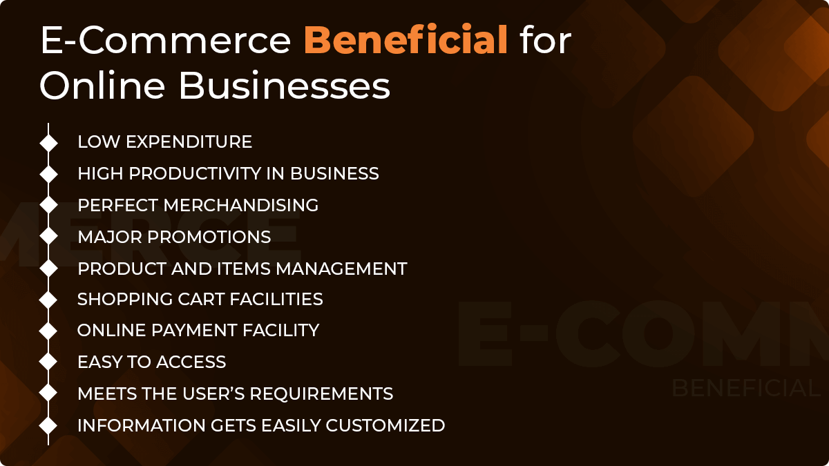 E-commerce Beneficial for Online Businesses