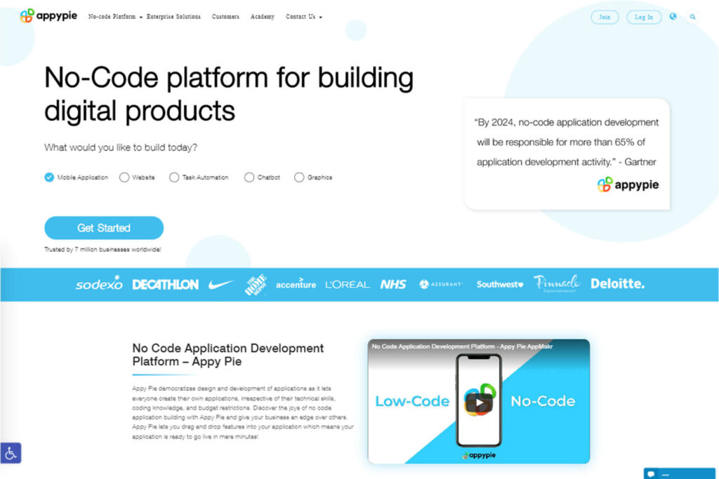 Appy Pie- Development Of Mobile App With Coding And Without Coding