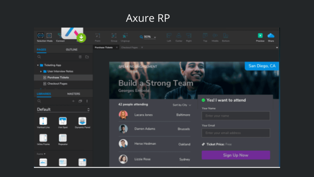 Axure RP- Best Mobile App UI Design Tools