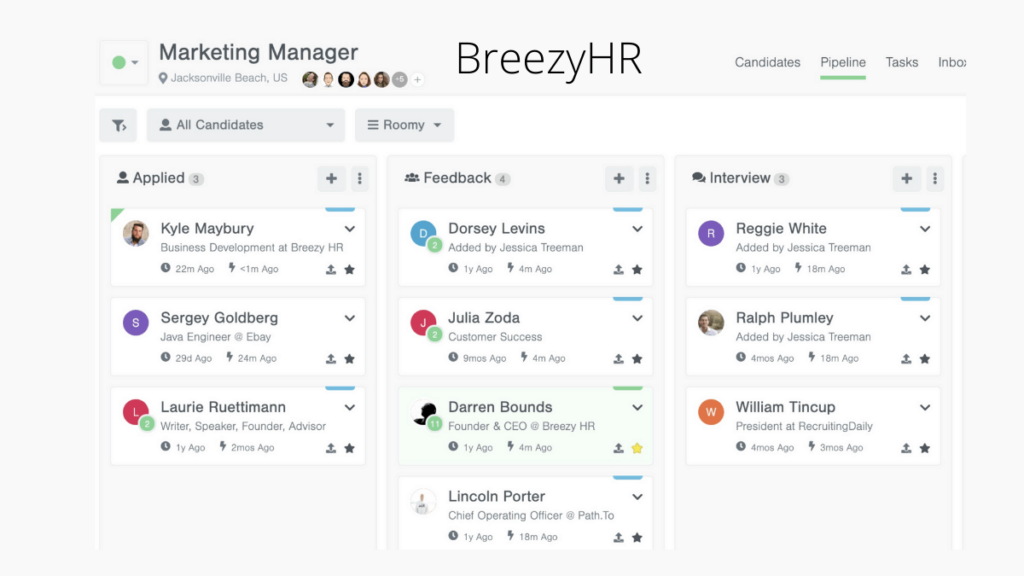 BreezyHR- 15 Job Management Softwares You Should Rely On In 2020