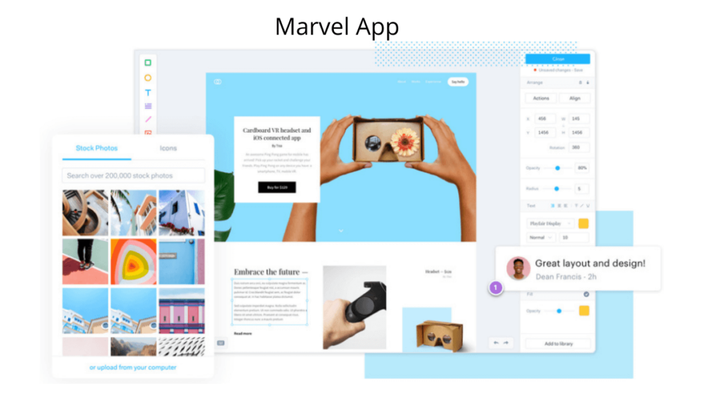 Marvel App- Best Mobile App UI Design Tools