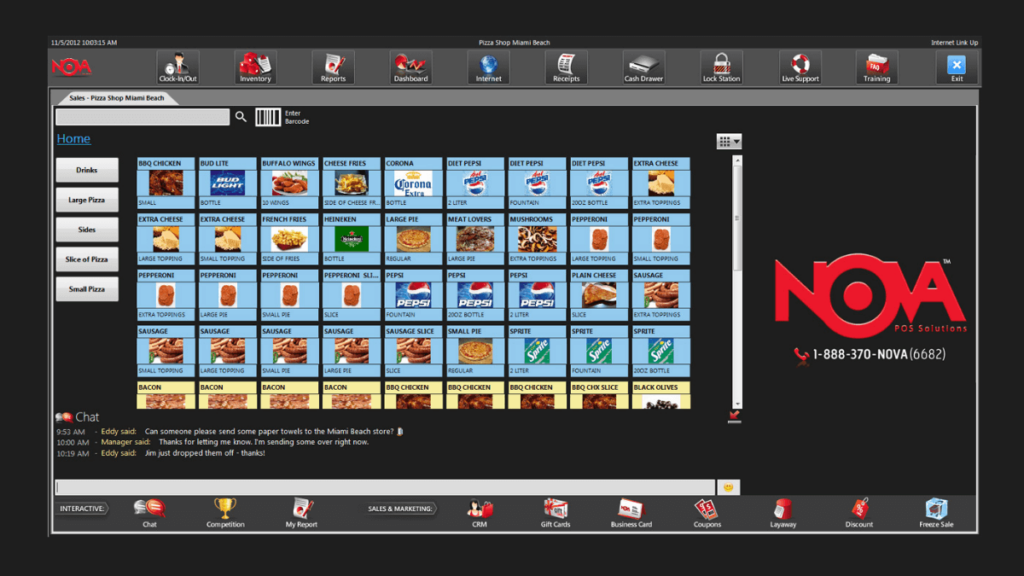 Nova Point of Sale- 10 Best Retail Management Softwares of All Times