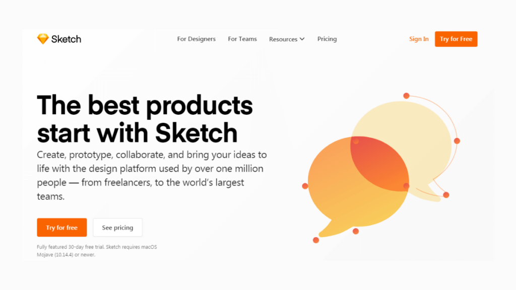 Sketch- Best Mobile App UI Design Tools