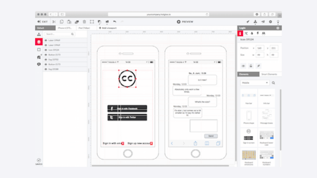 HotGloo- Best Free Wireframe Tools For Mobile App