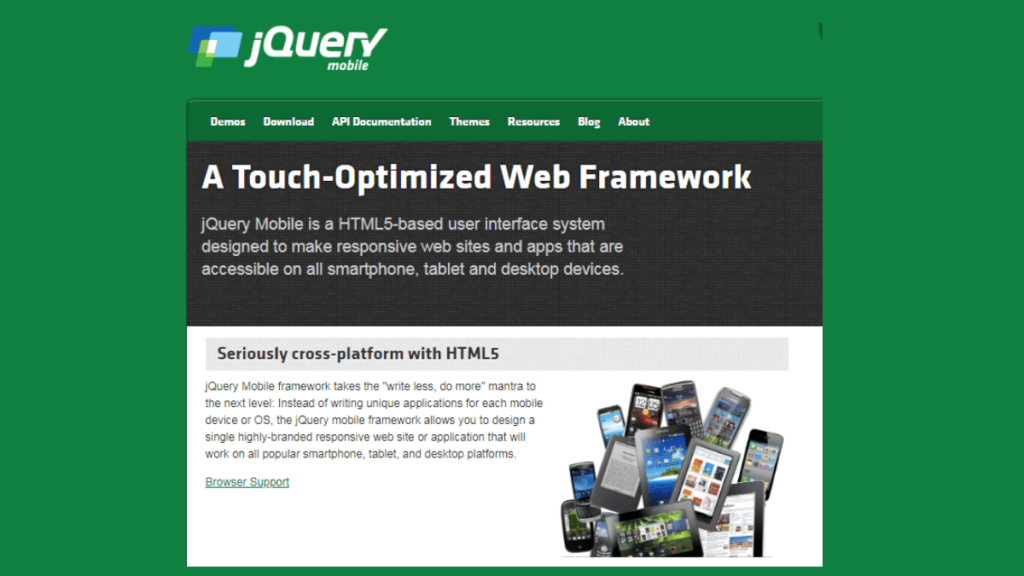 jQuery Mobile- 15 Best Android Framework