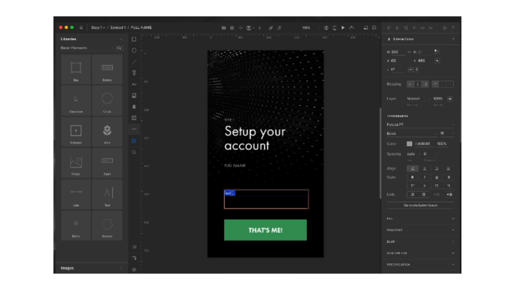 uxpin- Best Free Wireframe Tools For Mobile App