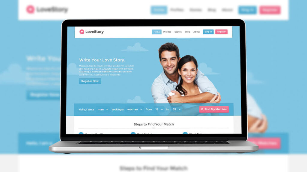 Love Story- Best Word Press Theme For Dating Website