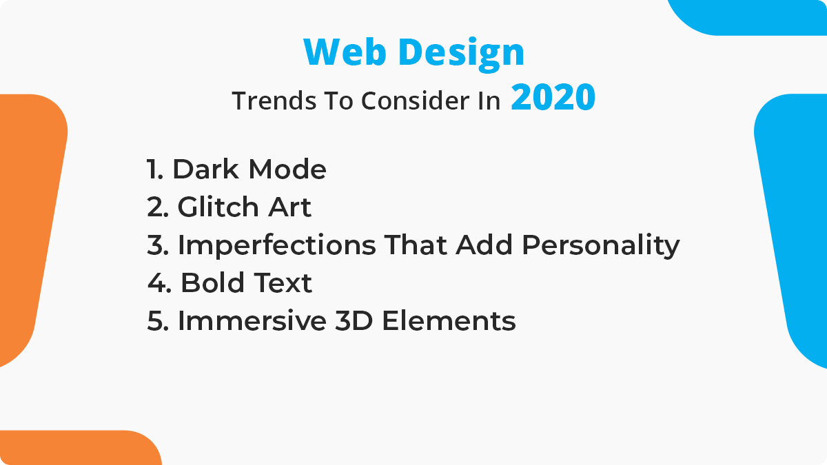 Web Design Trends To Consider In 2020