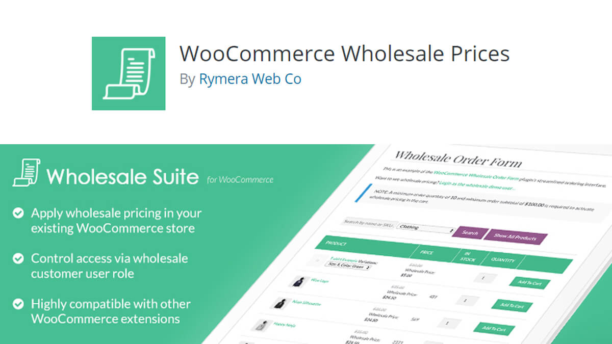 WooCommerce Wholesale Suite- Best Features Of Woocommerce
