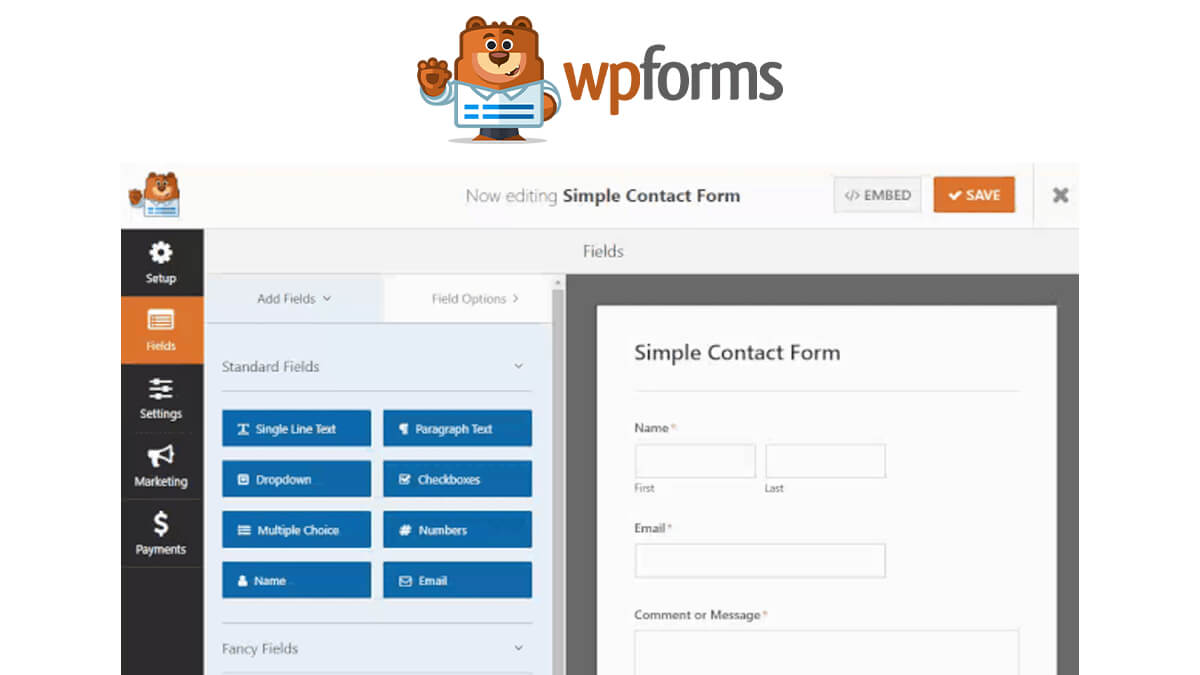 WP Forms- Best WordPress Contact Form Plugins