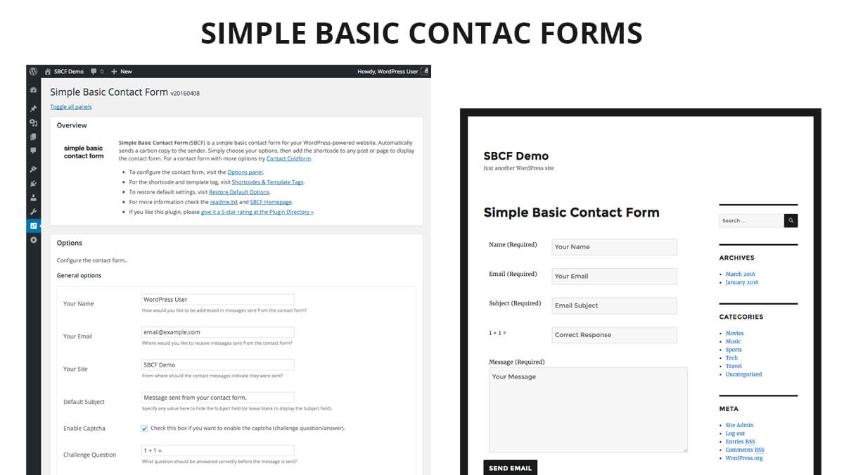Simple Basic- Best WordPress Contact Form Plugins