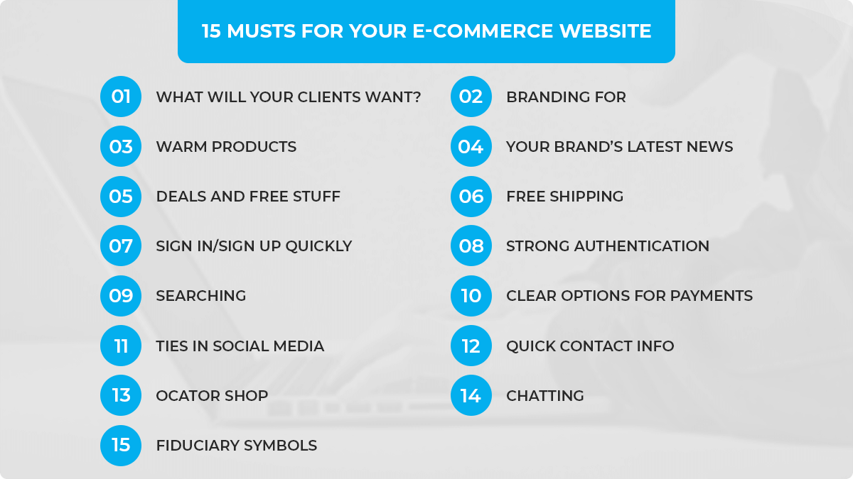 15 Musts for Your E-Commerce Website