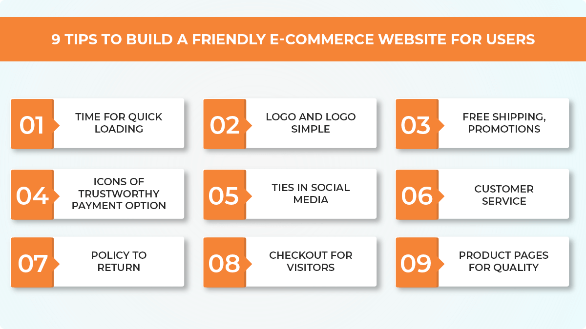 9 Tips To Build a Friendly E-Commerce Website For Users