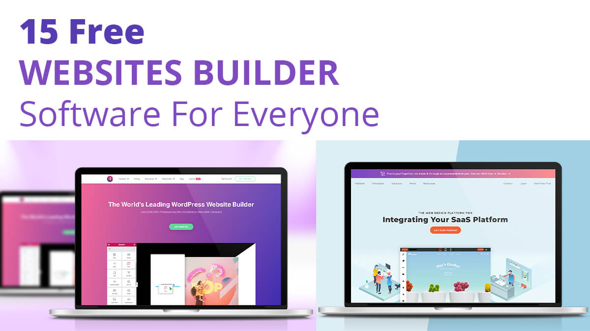 15 Free Websites Builder Software For Everyone