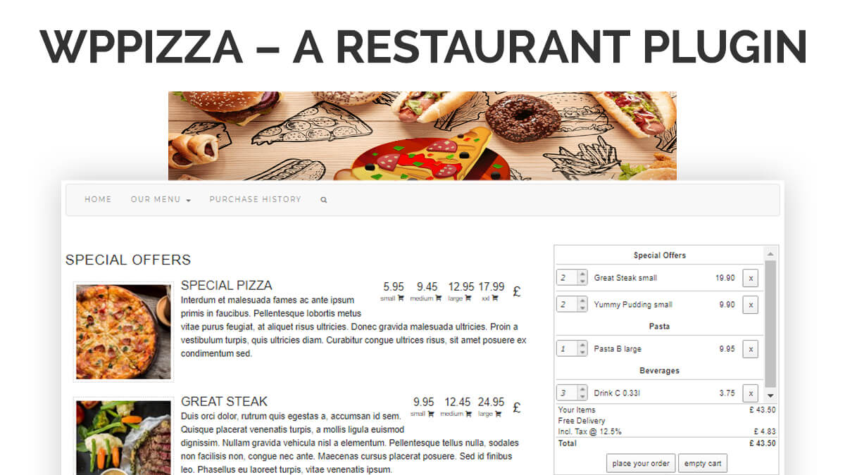 WPPizza- 14 Best WordPress Food Ordering Plugins To Try Out In 2021