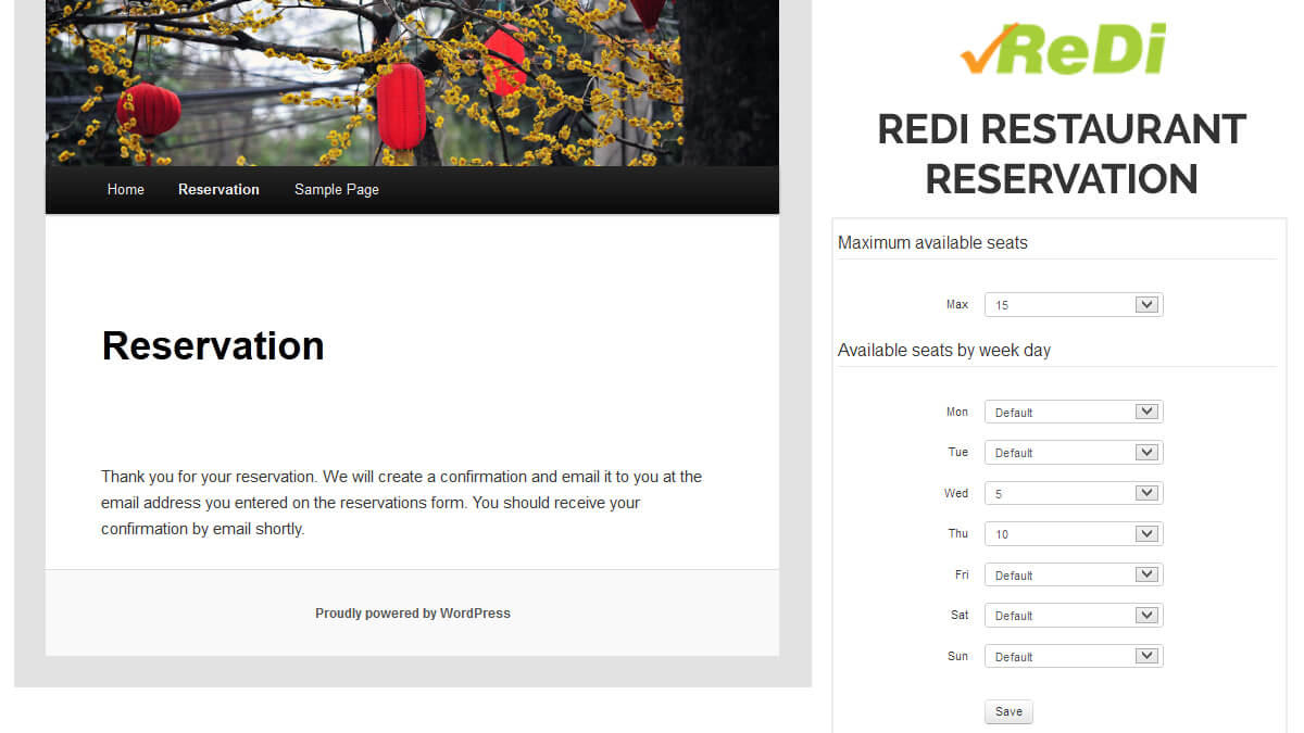 ReDi Restaurant Reservation- 14 Best WordPress Food Ordering Plugins To Try Out In 2021