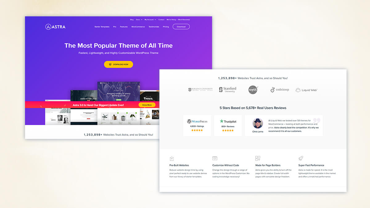 Astra- WordPress Theme For Travel Blogs In 2021