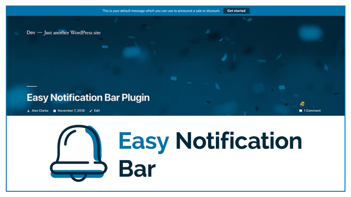 Easy Notification Bar- 14 Best WordPress Food Ordering Plugins To Try Out In 2021