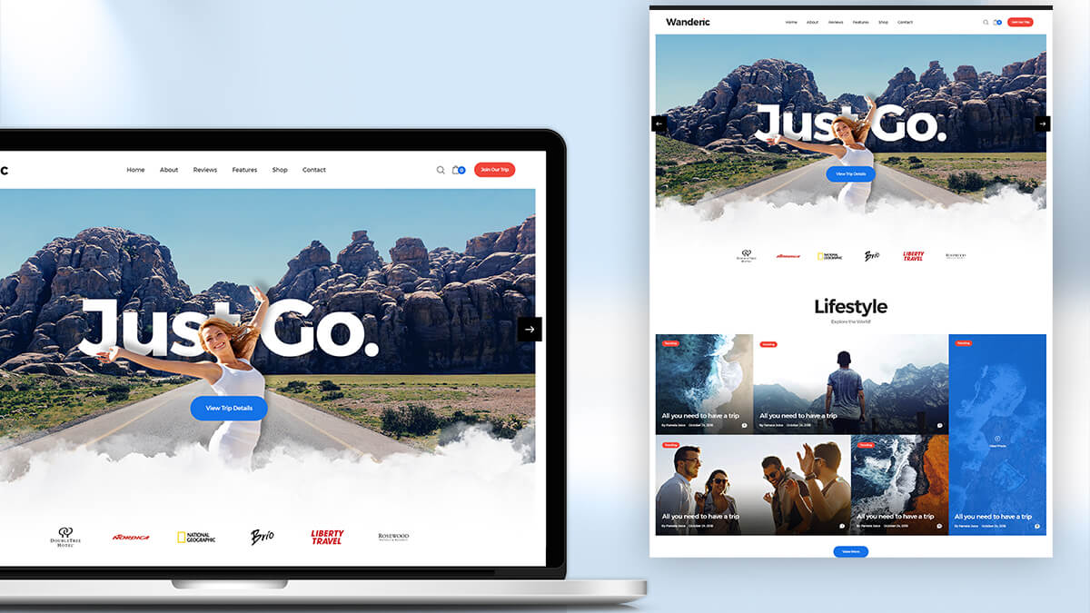 Wanderic- WordPress Theme For Travel Blogs In 2021