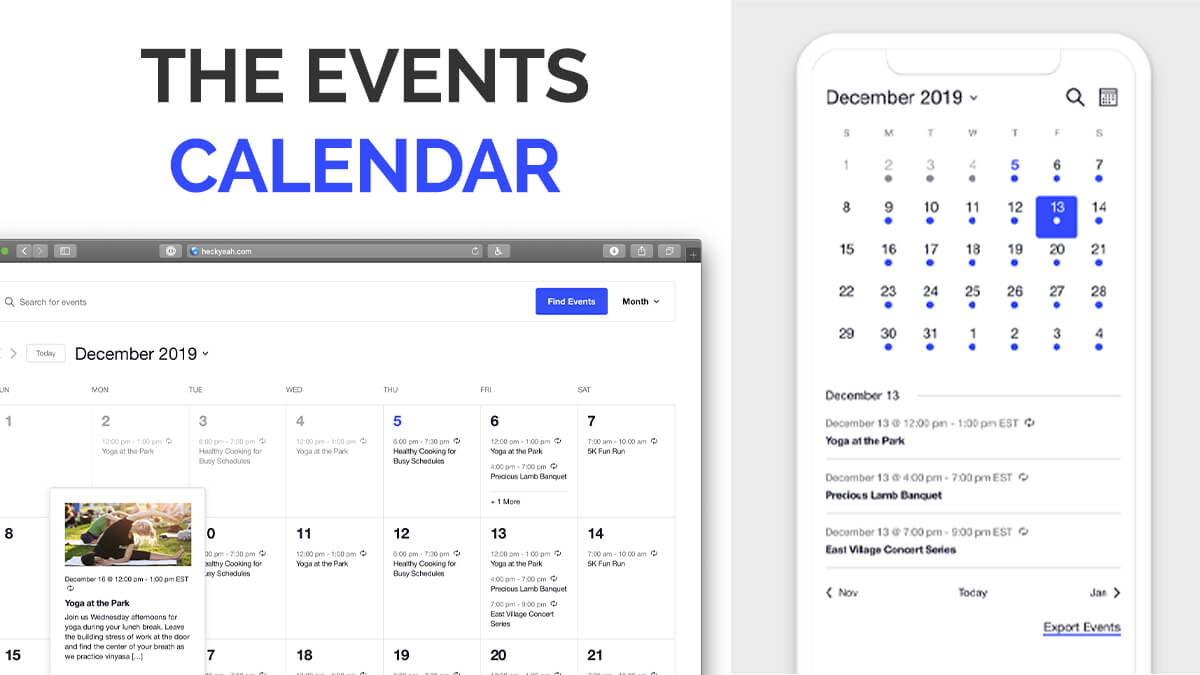 The Events Calendar- 14 Best WordPress Food Ordering Plugins To Try Out In 2021