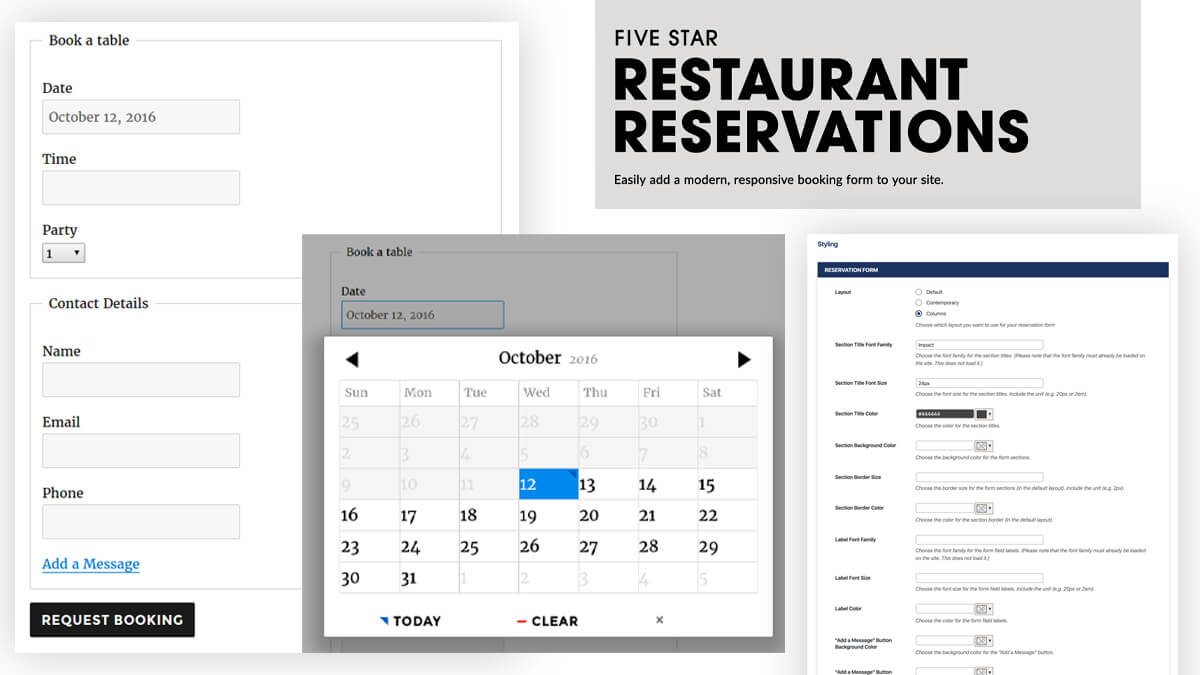 Five Star Restaurant Reservations- 14 Best WordPress Food Ordering Plugins To Try Out In 2021