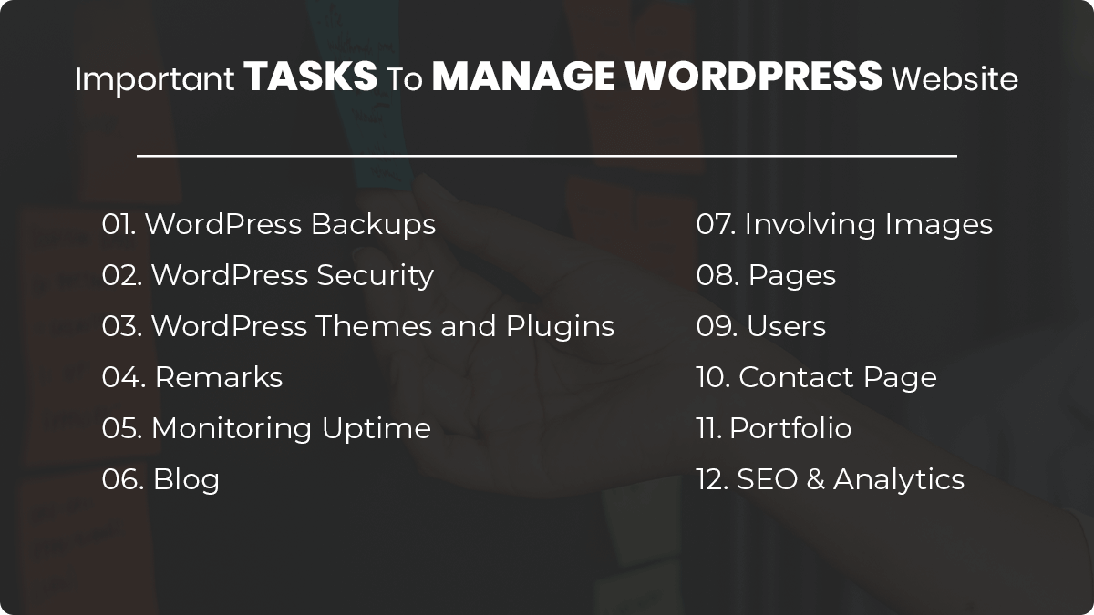 Important Tasks- How To Easily Manage Your WordPress Website: Tips and Tricks
