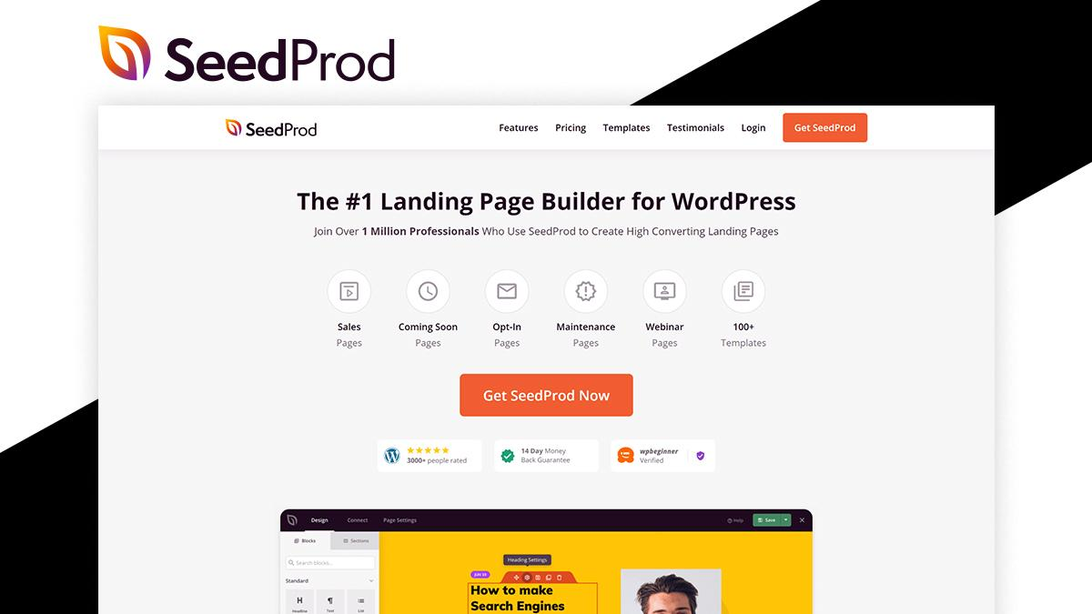 Seedprod- 8 WordPress Page Builder That Can Help You Build Amazing Websites