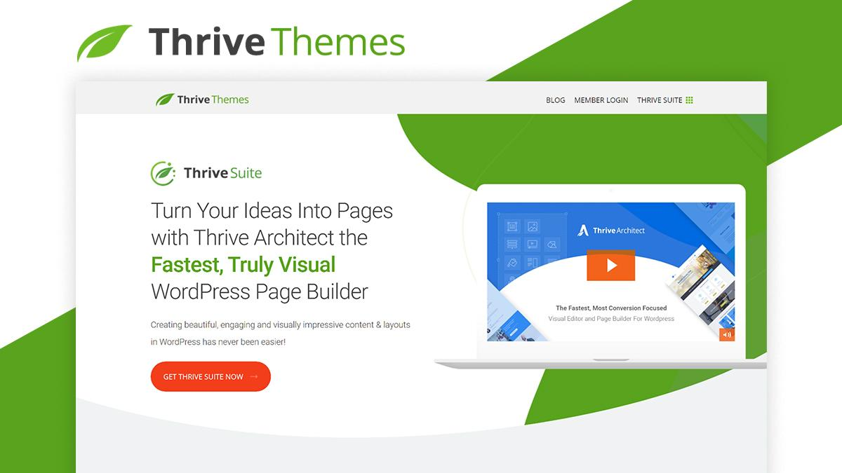 Thrive Theme- 8 WordPress Page Builder That Can Help You Build Amazing Websites