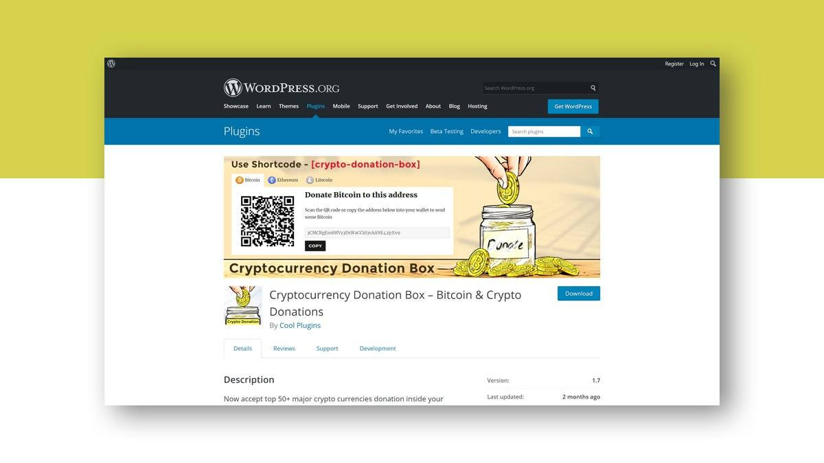 Cryptocurrency Donation Box- 10 WordPress Donation Plugins For Charity, Relief, And Support
