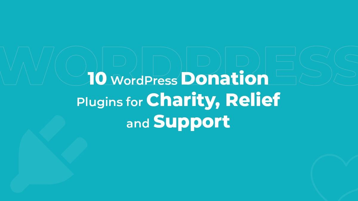 10 WordPress Donation Plugins For Charity, Relief, And Support