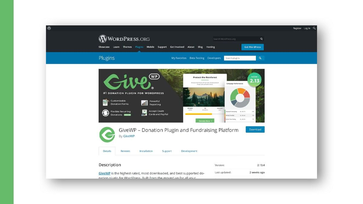 GiveWP- 10 WordPress Donation Plugins For Charity, Relief, And Support