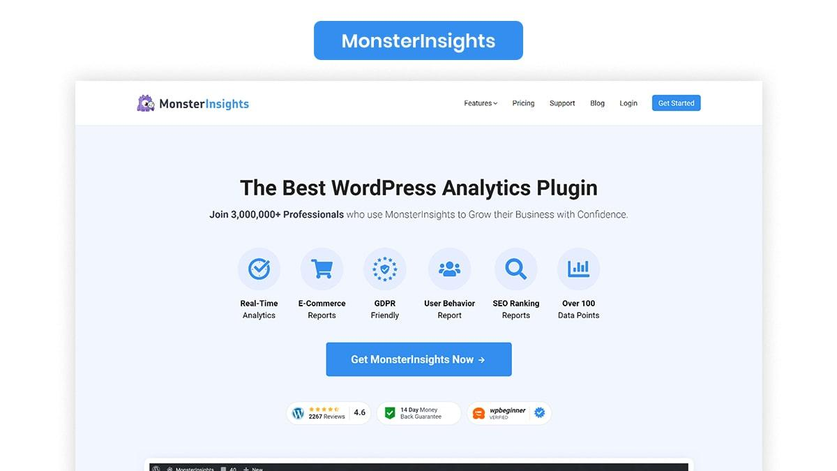 MonsterInsights- 10 Best WordPress Podcast Plugins Available In 2021