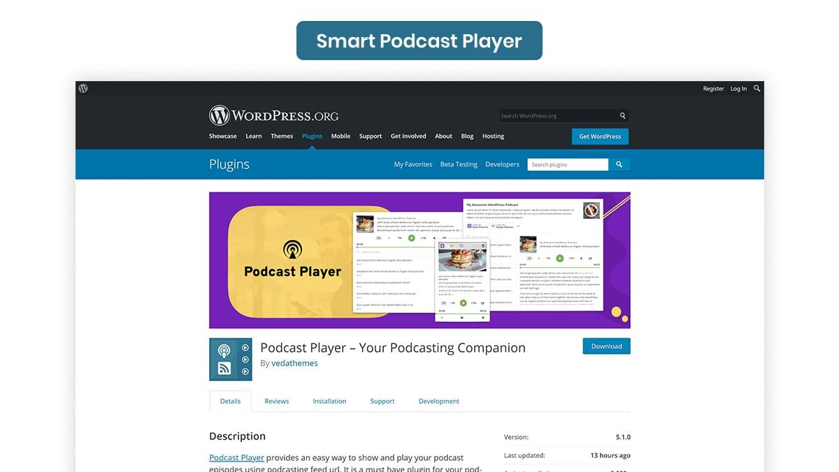 Smart Podcast Player- 10 Best WordPress Podcast Plugins Available In 2021
