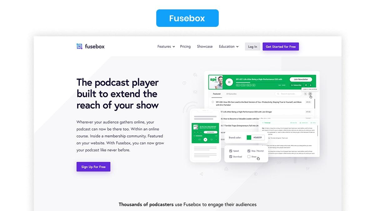 Fusebox- 10 Best WordPress Podcast Plugins Available In 2021