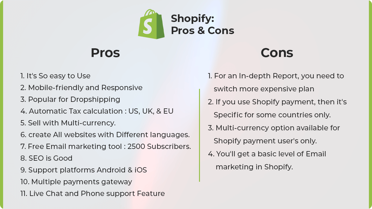 Shopify Prons and Cons: WooCommerce Vs Shopify: Which One Is The Best For Online Store