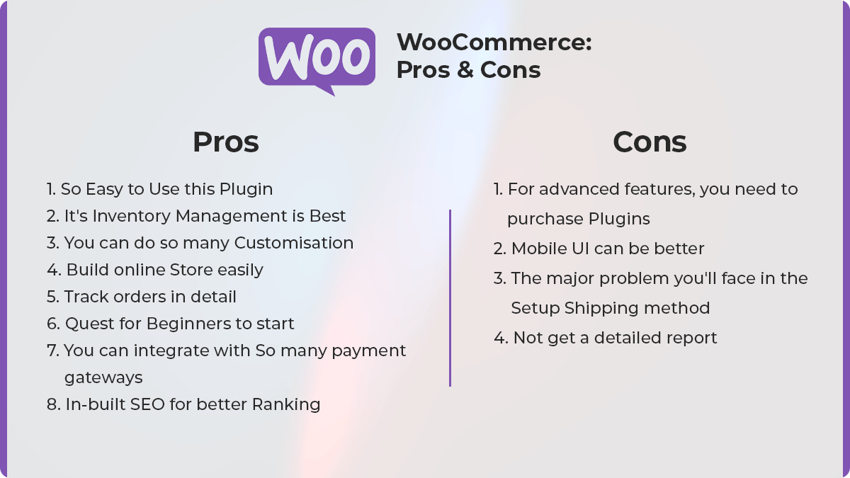 Woocommerce Prons and Cons: WooCommerce Vs Shopify: Which One Is The Best For Online Store