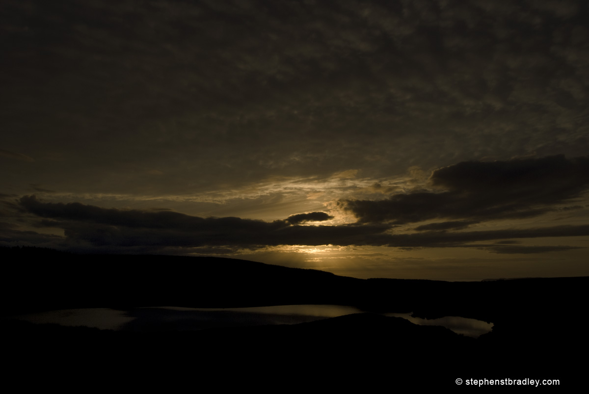 Commercial photographer Atlanta, landscape photograph of sunset at Loughareema, Northern Ireland - photo 1672.