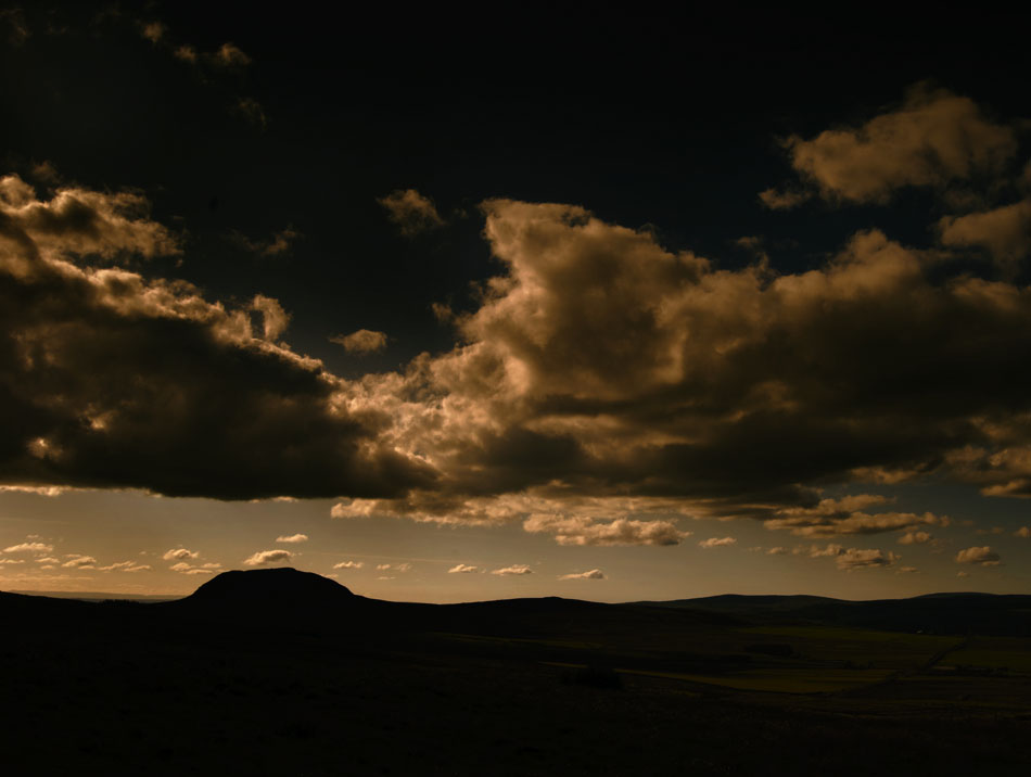 Landscape photograph of sunset at Slemish mountain, Northern Ireland by photographer Stephen S T Bradley - image 1934 photo icon.