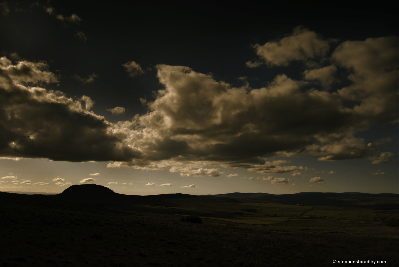 Commercial photographer Atlanta, landscape photograph of sunset at Slemish mountain, Northern Ireland - image 1934 by Stephen Bradley photographer.