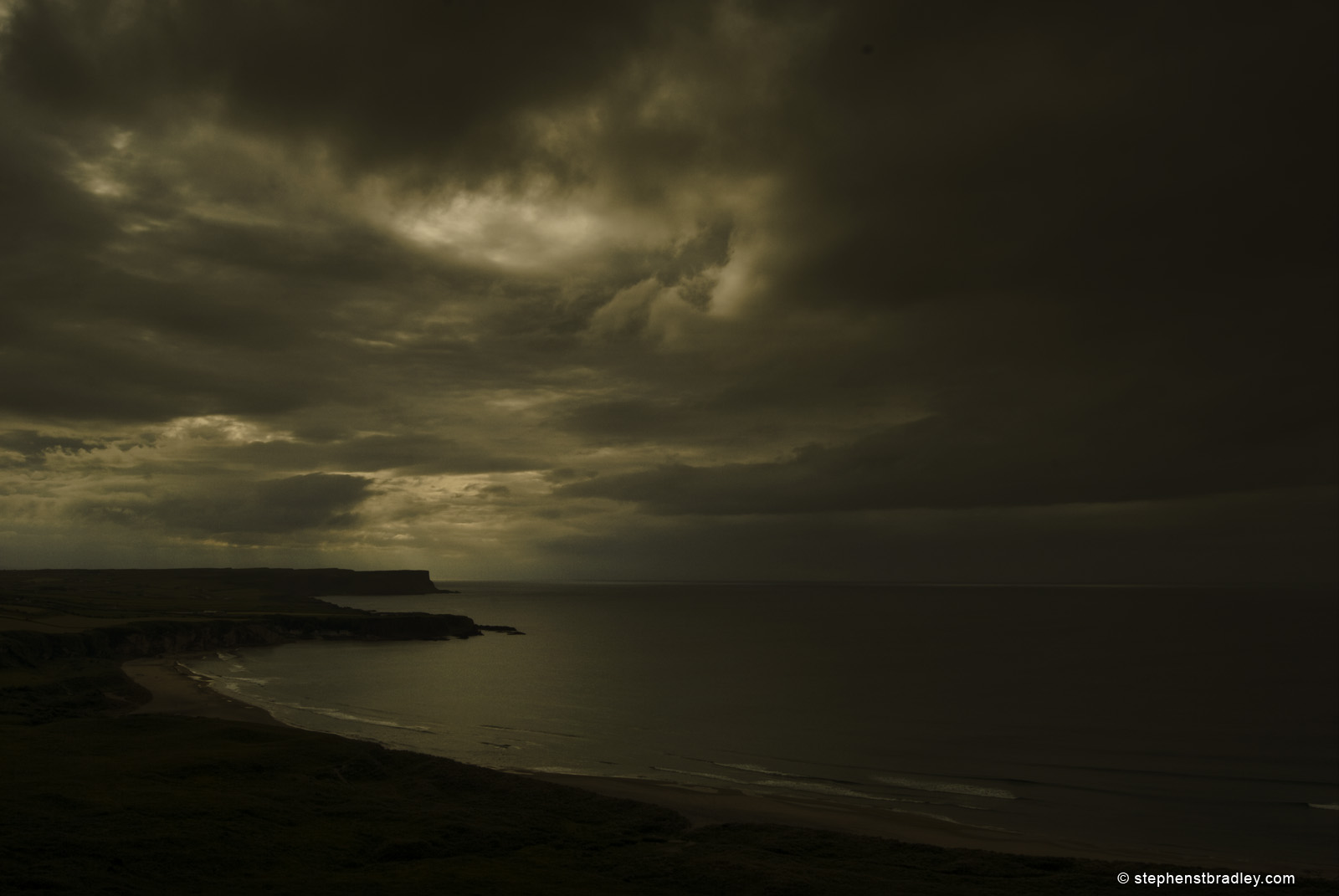 Landscape photograph of White Park Bay, Northern Ireland by Stephen Bradley photographer - photograph 2140.